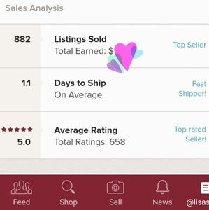 Other - 💙My Posh Stats 2/16/19 - Shop W/ Confidence! 